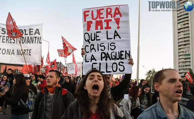 阿根廷罢工现场