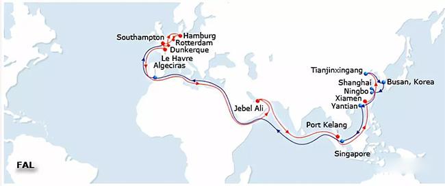 集装箱船被起重机击中事发航线为欧洲线知名的FAL线