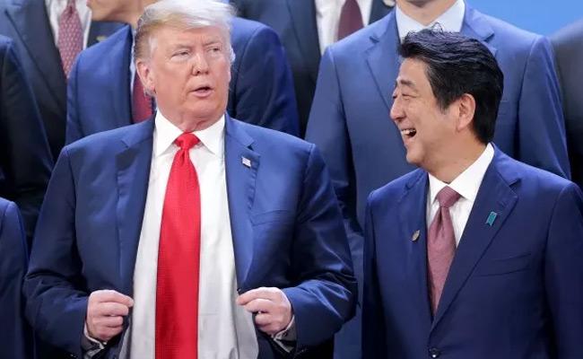 特朗普与安倍晋三在G20峰会